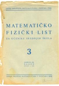MATEMATIČKO - FIZIČKI LIST BR.3 1958/1959.
